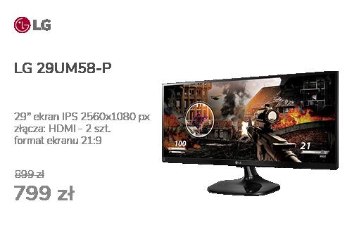 LG 29UM58-P czarny