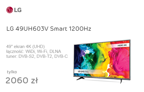 LG 49UH603V Smart 4K 1200Hz WiFi 3xHDMI USB