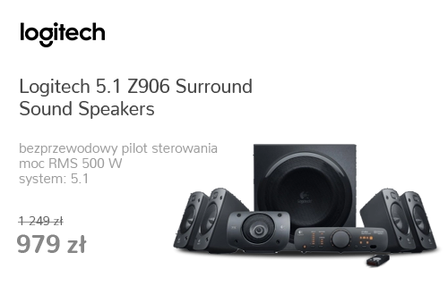 Logitech 5.1 Z906 Surround Sound Speakers