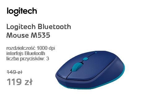 Logitech Bluetooth Mouse M535 niebieska