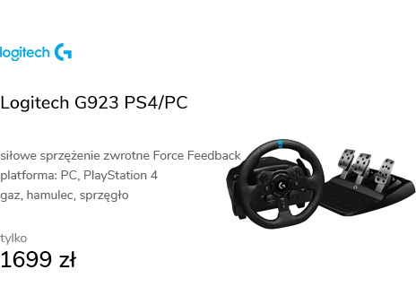 Logitech G923 PS4/PC