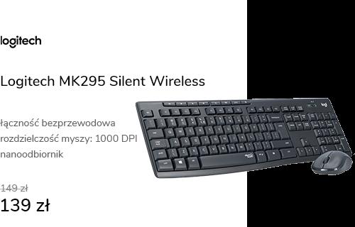 Logitech MK295 Silent Wireless grafitowy