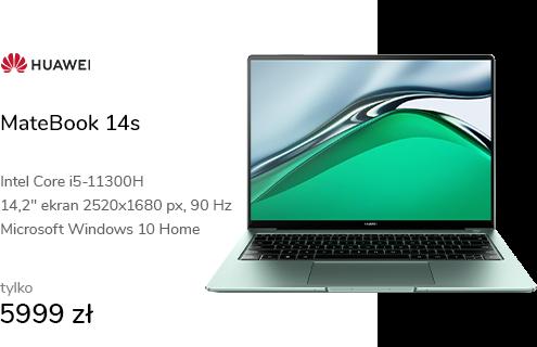 MateBook 14s i5-11300H/16GB/512/Win10 90Hz zielon