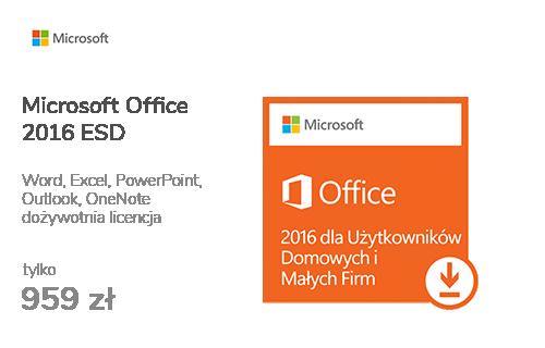 Microsoft Office 2016 dla Użytk. Domowych i Małych Firm ESD