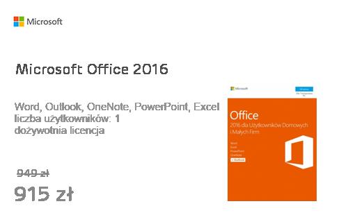 Microsoft Office 2016 dla Użytk. Domowych i Małych Firm