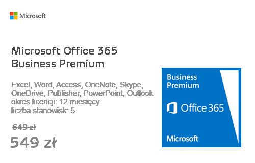 Microsoft Office 365 Business Premium subskrypcja 12m