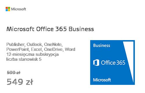 Microsoft Office 365 Business usługa/subskrypcja 12 miesięcy