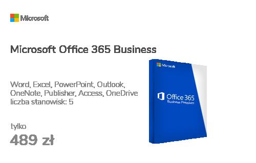 Microsoft Office 365 Business usługa/subskrypcja 12m.
