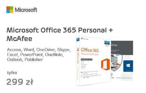 Microsoft Office 365 Personal + McAfee AntiVirus