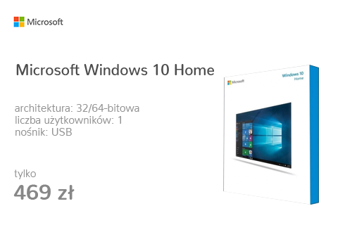 Microsoft Windows 10 Home PL 32/64bit BOX USB
