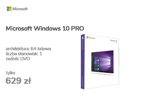 Microsoft Windows 10 PRO PL 64bit OEM DVD