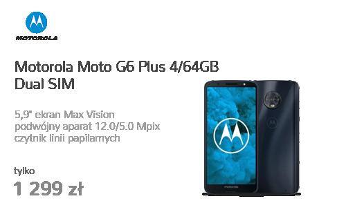 Motorola Moto G6 Plus 4/64GB Dual SIM czarny