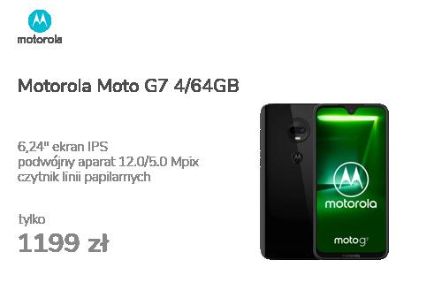 Motorola Moto G7 4/64GB Dual SIM czarny + etui
