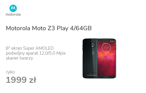Motorola Moto Z3 Play 4/64GB Dual SIM czarny