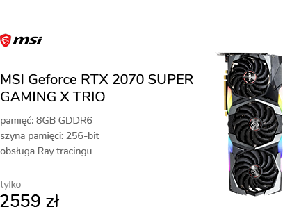 MSI Geforce RTX 2070 SUPER GAMING X TRIO 8GB GDDR6