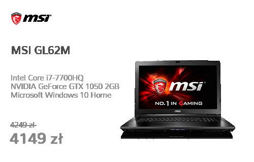 MSI GL62M i7-7700HQ/8GB/1TB/Win10X GTX1050 FHD