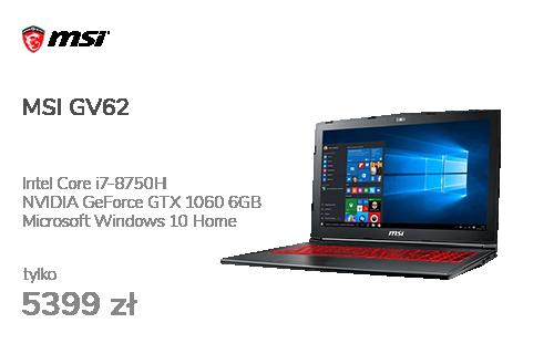 MSI GV62 i7-8750H/16GB/240+1TB/Win10X GTX1060 IPS