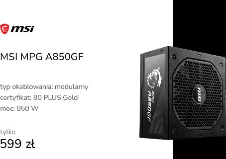 MSI MPG A850GF 850W 80 Plus Gold