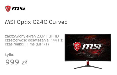 MSI Optix G24C Curved czarny