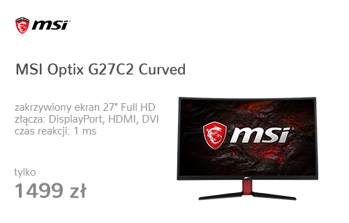 MSI Optix G27C2 Curved czarny