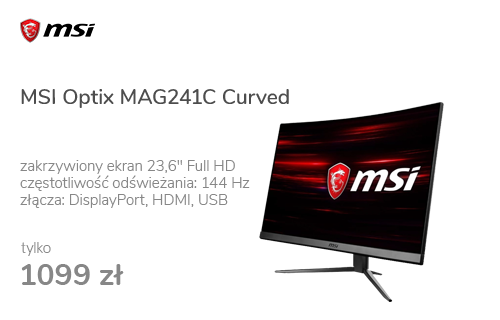 MSI Optix MAG241C Curved czarny