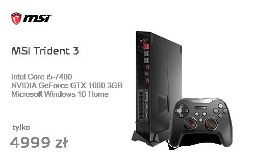 MSI Trident 3 i5-7400/8GB/1TB+128SSD/Win10 GTX1060