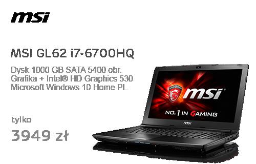 MSI GL62 i7-6700HQ