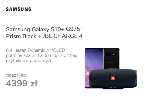 Samsung Galaxy S10+ G975F Prism Black + JBL CHARGE 4