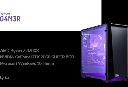 x-kom G4M3R 500 R7-3700X/32GB/240+1TB/W10X/RTX2060
