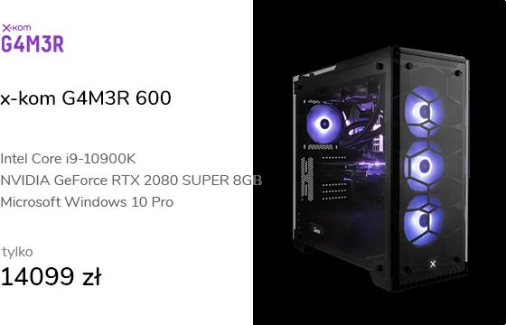 x-kom G4M3R 600 i9-10900K/32GB/500+1TB/W10PX/RTX20