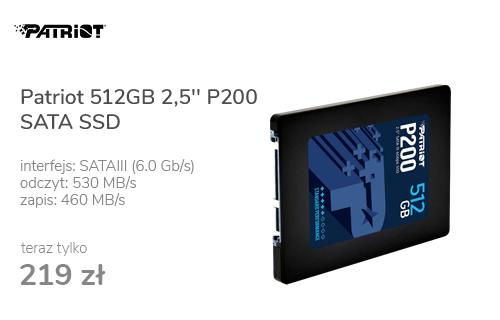 Patriot 512GB 2,5'' P200 SATA SSD