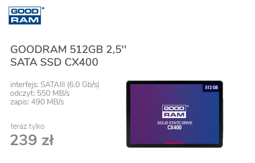 GOODRAM 512GB 2,5'' SATA SSD CX400