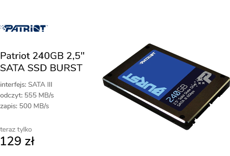 "Patriot 240GB 2,5"" SATA SSD BURST"