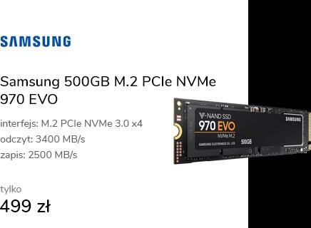 Samsung 500GB M.2 PCIe NVMe 970 EVO