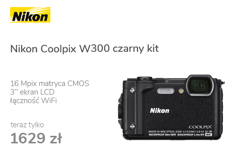 Nikon Coolpix W300 czarny kit