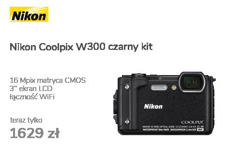 Nikon Coolpix W300 czarny kit