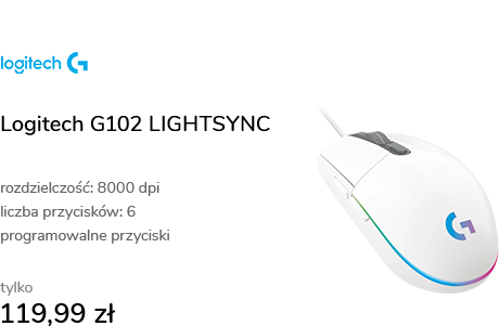 Logitech G102 LIGHTSYNC biała