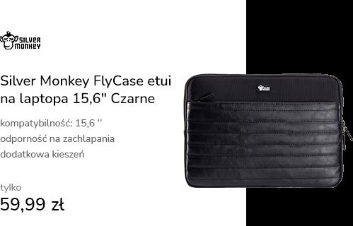"Silver Monkey FlyCase etui na laptopa 15,6"" Czarne"