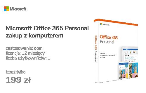Microsoft Office 365 Personal | zakup z komputerem