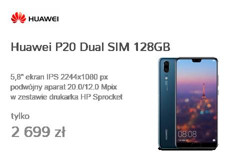 Huawei P20 Dual SIM 128GB Niebieski