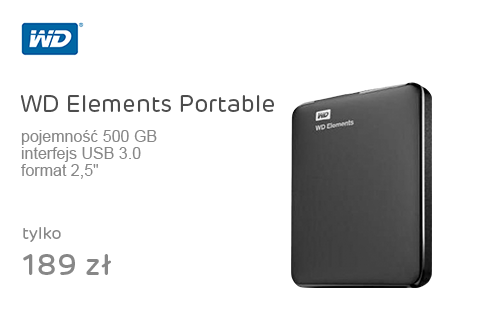 WD Elements Portable 500GB czarny USB 3.0