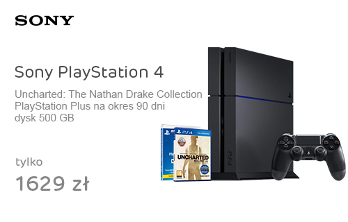 Sony PlayStation 4 500GB +Uncharted +PSN90
