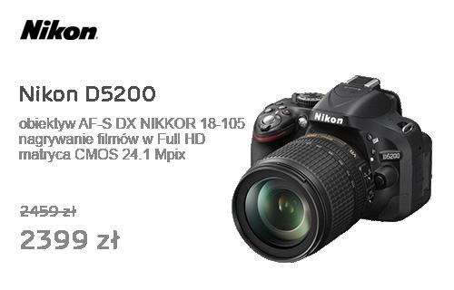 Nikon D5200 czarny +AF-S VR 18-105