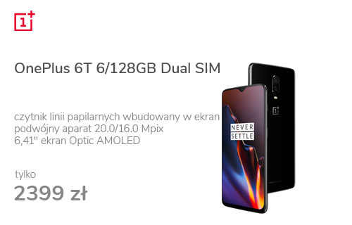 OnePlus 6T 6/128GB Dual SIM Mirror Black