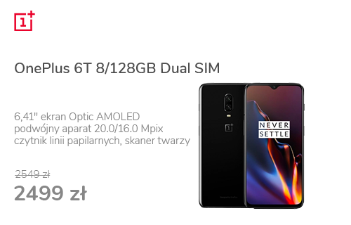 OnePlus 6T 8/128GB Dual SIM Mirror Black