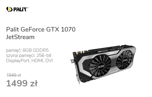 Palit GeForce GTX 1070 JetStream 8GB GDDR5