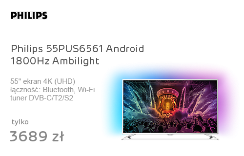 Philips 55PUS6561 Android 4K 1800Hz Wifi 4xHDMI Ambilight
