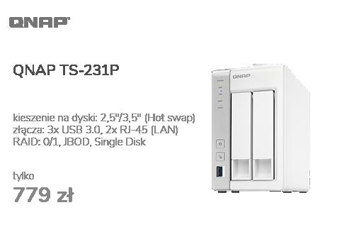 QNAP TS-231P (2xHDD, 2x1.7GHz, 1GB, 3xUSB, 2xLAN)