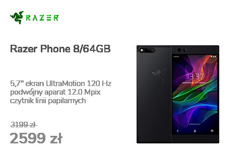Razer Phone 8/64GB 5,7'' 120Hz Czarny