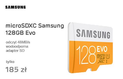 Samsung 128GB microSDXC Evo odczyt 48MB/s + adapter SD